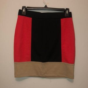 3 block color short skirt